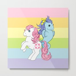 g1 my little pony sundance and seapony Metal Print