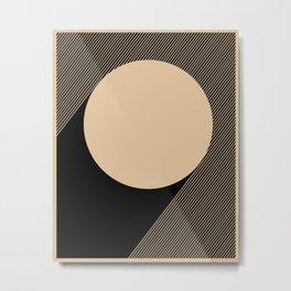 Beige Circle Metal Print