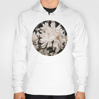 antique Hoodies featuring Antique Magnolias by A Wandering Soul
