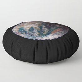 The Blue Marble Eastern Hemisphere - Earth From Space Floor Pillow