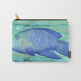 Humphead Wrasse Exotic Fish Swimming in the Coral Reef Emerald Water Carry-All Pouch
