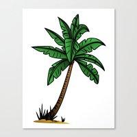 palm tree Canvas Prints featuring palm tree by Li-Bro