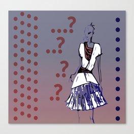 Question mark Canvas Print