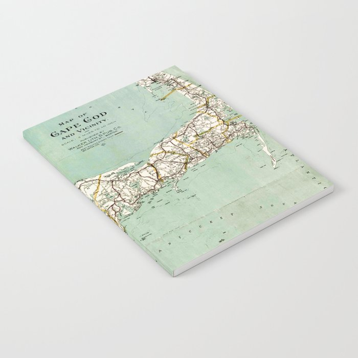 cap cod and vicinity map notebook by mapmaker society6