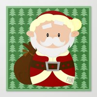 santa Canvas Prints featuring Santa by Alapapaju