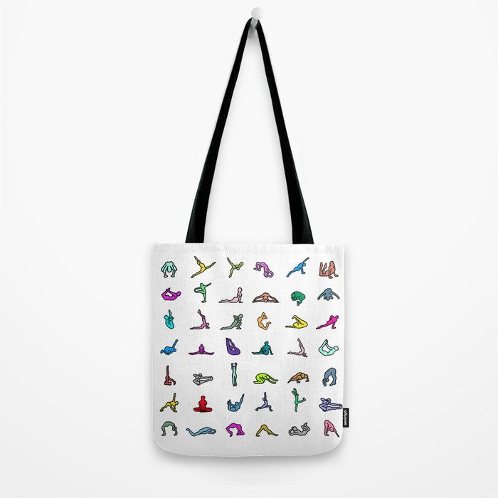 7f79ba493a Rainbow Yoga Poses Tote Bag by notsniw