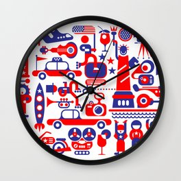 USA Independence Day Wall Clock