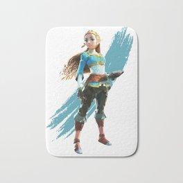 Low Poly Princess Zelda of Hyrule Bath Mat