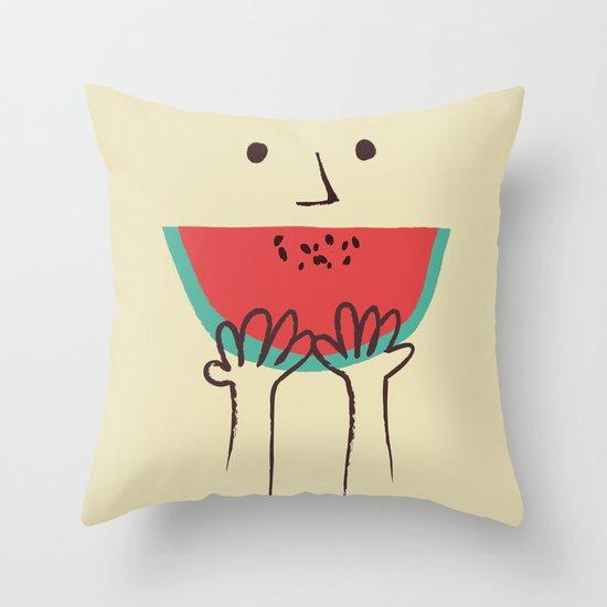 Summer smile Throw Pillow