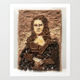 Mocha Lisa Art Print