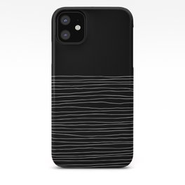 Hand Striped black and white iPhone Case