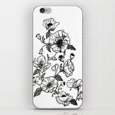 White poppies iPhone & iPod Skin
