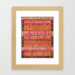 N120 - Fresh Bohemian Traditional Moroccan Style Artwork. Framed Art Print
