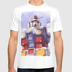 Gundam RX-78-2 White Mens Fitted Tee 2X-LARGE