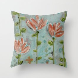 Flowering vines Throw Pillow