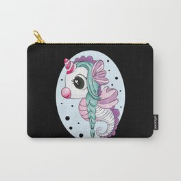 Cute Unicorn Seahorse Kids Girl children birthday Carry-All Pouch