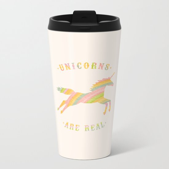 Unicorns Are Real Metal Travel Mug