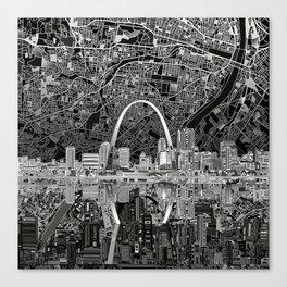 st louis city skyline map Canvas Print