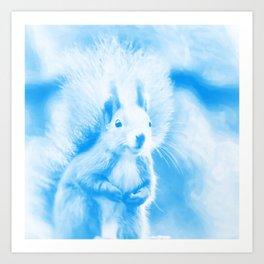squirrel digital oil paint dopwb Art Print