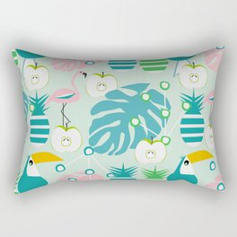 Modern tropical summer vibes Rectangular Pillow