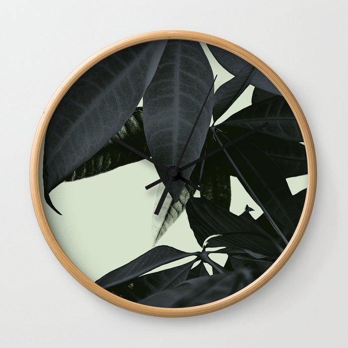Pachira Aquatica #3 #foliage #decor #art #society6 Wall Clock
