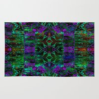 wild things Area & Throw Rugs featuring Wild Things II by RingWaveArt