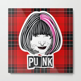 Punk Anna 2 (plaid) Metal Print