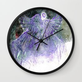 Snow Angel On Mountaintop Above Dewdrop Holler Wall Clock