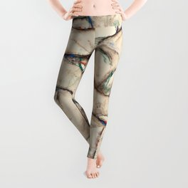 "Egon Schiele ""Naked Girls Embracing"" Leggings"