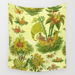 Chartreuse Chinoiserie Wall Tapestry