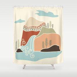 Southwest Mountain Shower Curtain