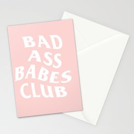 bad ass babes club Stationery Cards