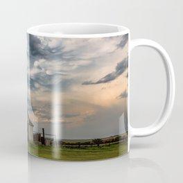 August Eve - Storm Sky Over Old Barn in Oklahoma Coffee Mug