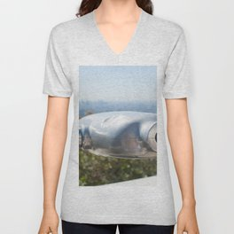 Coin operated telescope at the Griffith Observatory Unisex V-Neck