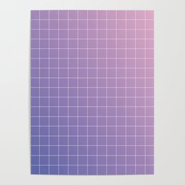 purple / pink - grid Poster