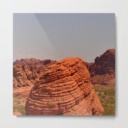 Red Valley Metal Print