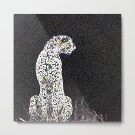 Cool Pop Art Cheetah - Help fund education for impoverished kids in Malawi, Africa.  #MoreThanAid Metal Print
