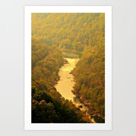 Peaceful River View Art Print