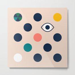 polka eye dot Metal Print