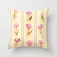 army Throw Pillows featuring Flower Army by Paula Belle Flores