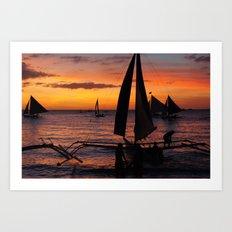 Borocay Sunset Philippines Art Print