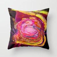 scream Throw Pillows featuring Scream by Lior Blum