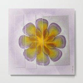 Unnarrative Fabric Flower  ID:16165-083138-80741 Metal Print