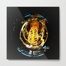 Industrial Filament Light Metal Print