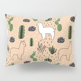 Alpaca&cactus Pillow Sham