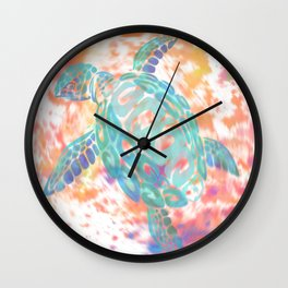 Turtle Pink Wall Clock