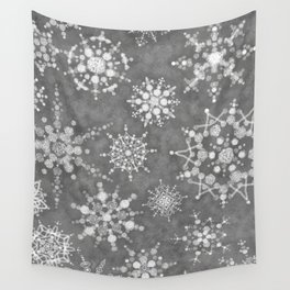 Winter Snowflakes Wall Tapestry