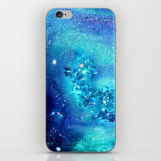 teal glitter abstract iPhone & iPod Skin