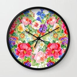 FLOWERS XI Wall Clock
