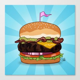 Bacon Cheeseburger Tummy Canvas Print